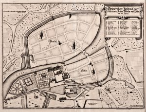 The Memhardt plan of Berlin/Cölln, 1652