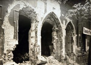 Rediscovery of the medieval residence of the margrave during demolition work in 1931