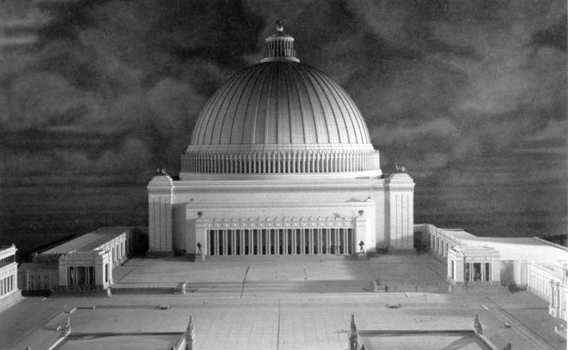 A model depicting the Great Hall, the centrepiece of the Germania project