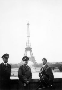 Adolf Hitler and Albert Speer in Paris, 1940, alongside sculptor Arno Breker