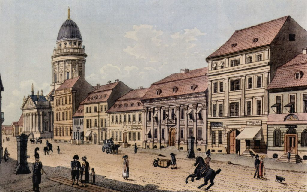 Jägerstgrasse in Berlin in the 1800s: including Rachel Levin's house (second from right)