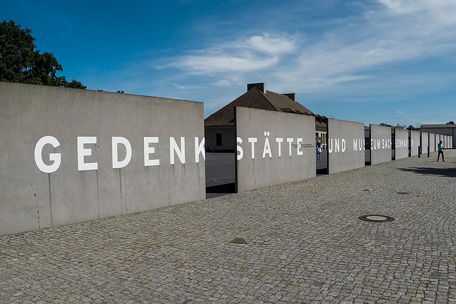 The entrance to the Sachsenhausen Concrentration Camp Memorial and Museum