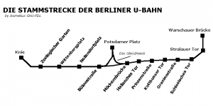 Berlin's first u-bahn line was known as the Stammstrecke