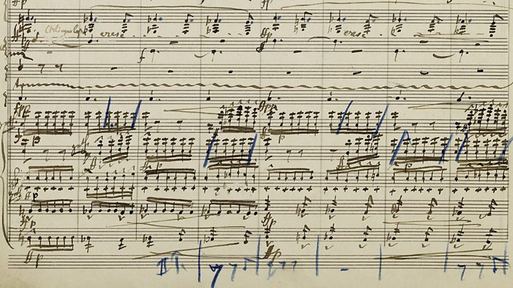 Manuscript for Mahler's Symhpony No. 2, first performed in Berlin in 1895